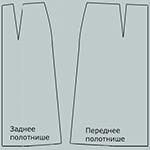 Основа выкройки юбки